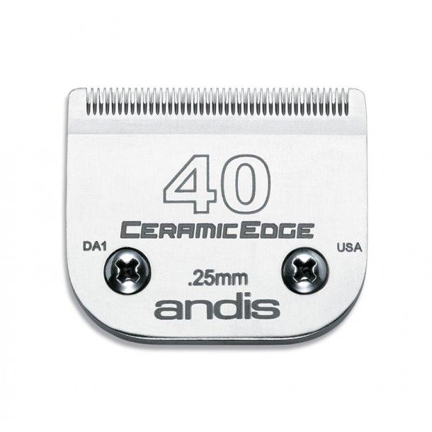 Andis 45 mm - model 40 - keramisk overkam - klippehøjde 0,25 mm.