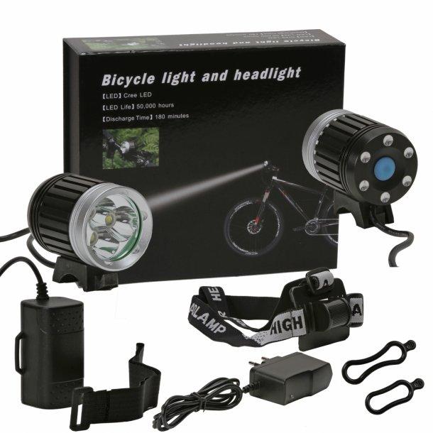 RC lygte - 3 x LED 1500 Lumen - 4 x 2600 mah Premium batteri pakke.